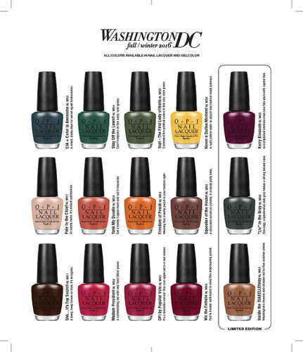 Opi Lacquer Nlw63 Opi By Popular Vote Washington Collection