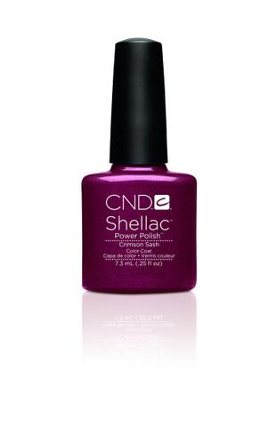 CND SHELLAC UV Color Coat - #90623 Crimson Sash .25 oz