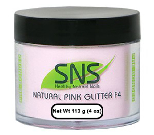 SNS Powder 4 oz - Natural Pink Glitter F4
