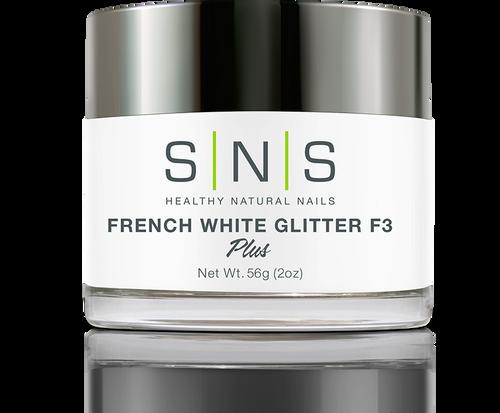 SNS Powder 2 oz - White Glitter F3
