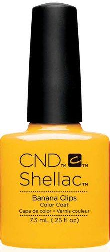 CND SHELLAC UV Color Coat - #91405 BANANA CLIPS - New Wave Collection .25 oz