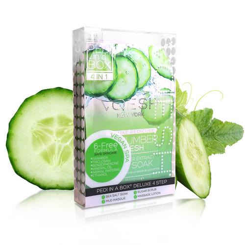 Voesh - Pedi in a Box - 4 Step Deluxe - Cucumber Fresh (VPC208CMB)