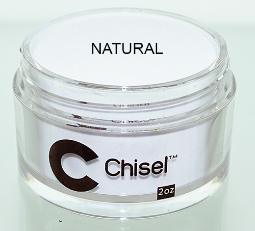 Chisel Acrylic & Dipping 2 oz - Pink & White - NATURAL