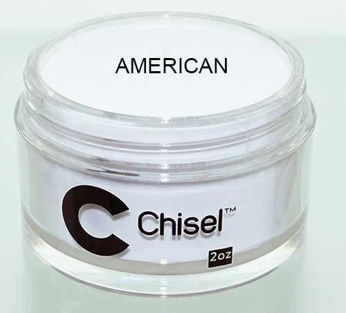 Chisel 2in1 Acrylic & Dipping 2 oz - Pink & White - AMERICAN