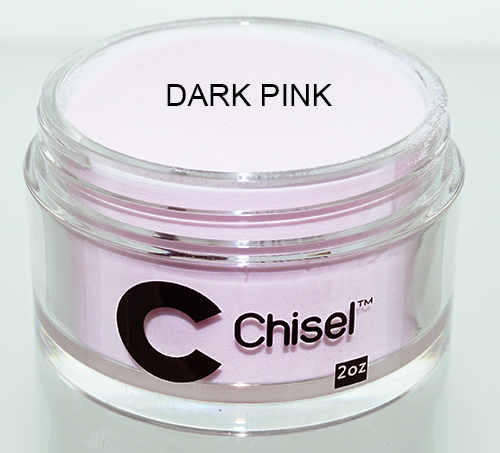 Chisel 2in1 Acrylic & Dipping 2 oz - Pink & White - DARK PINK
