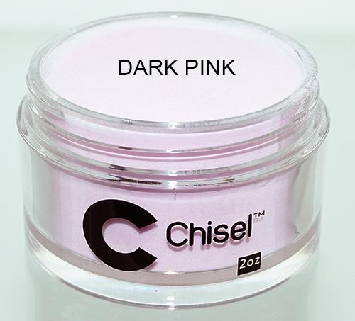 Chisel Acrylic & Dipping 2 oz - Pink & White - DARK PINK
