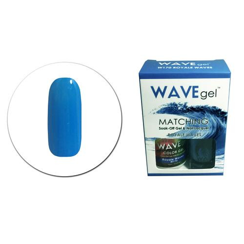 WaveGel Matching S/O Gel & Nail Lacquer - W170 ROYALE WAVES .5 oz
