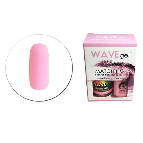 WaveGel Matching S/O Gel & Nail Lacquer - W174 MORNING SAKURA'S .5 oz