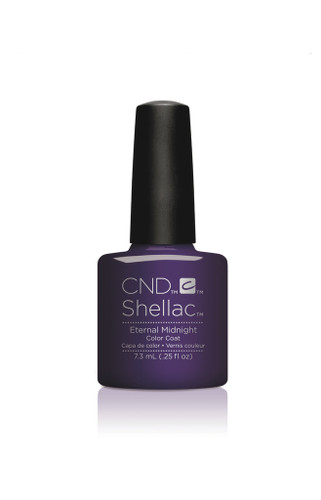CND SHELLAC UV Color Coat - #91592 ETERNAL MIDNIGHT - Nightspell Collection .25 oz