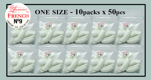 Lamour French Tip One Size - 10 Packs (50 per pack) Size #9