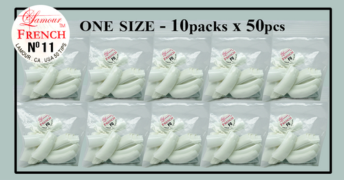 Lamour French Tip One Size - 10 Packs (50 per pack) Size #10