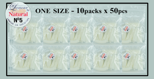 Lamour Natural Tip One Size - 10 Packs (50 per pack) Size #5