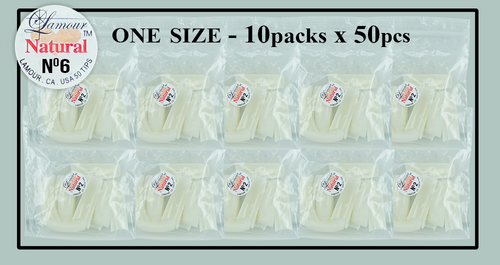 Lamour Natural Tip One Size - 10 Packs (50 per pack) Size #6
