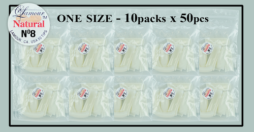 Lamour Natural Tip One Size - 10 Packs (50 per pack) Size #8