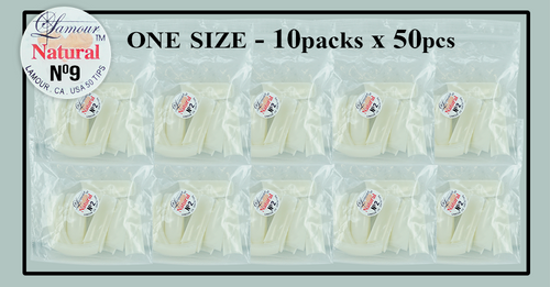 Lamour Natural Tip One Size - 10 Packs (50 per pack) Size #9