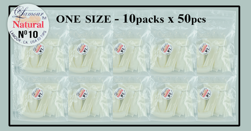 Lamour Natural Tip One Size - 10 Packs (50 per pack) Size #10