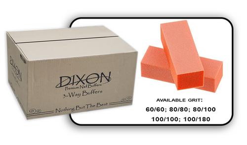 Buffer Block 3 Way - Orange/White -  100/100 Grit (Case/500 pcs)
