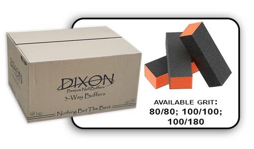 Buffer Block 3 Way - Orange/Black -  80/80 Grit (Case/500 pcs)