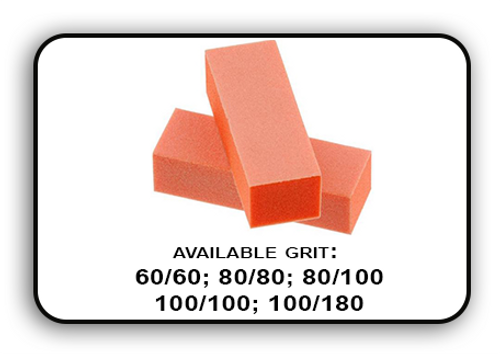 Buffer Block 3 Way - Orange/White -  80/100 Grit (Pack/20 pcs)