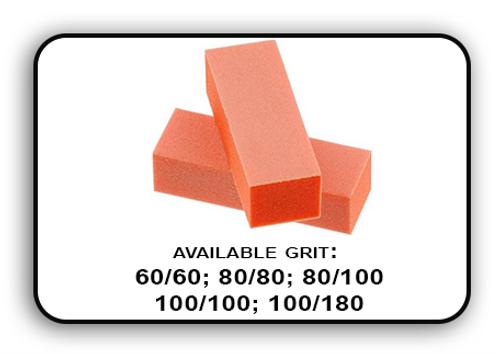 Buffer Block 3 Way - Orange/White -  100/100 Grit (Pack/20 pcs)