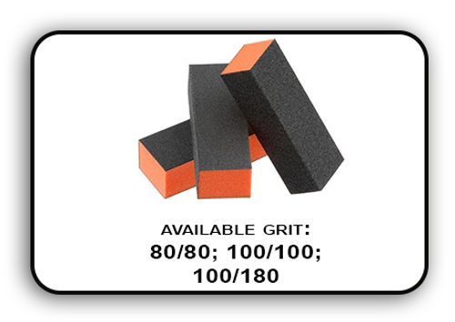 Buffer Block 3 Way - Orange/Black -  80/80 Grit (Pack/20 pcs)