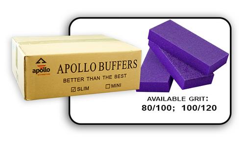 Slim Buffer - Purple/White - 80/100 Grit (Case/500 pcs)