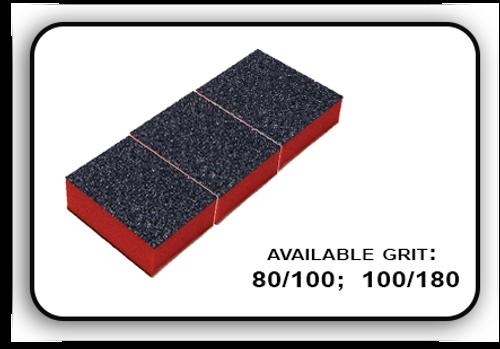 Mini Buffer 2 Way - Orange/Black - 80/100 Grit (Pack/30 pcs)