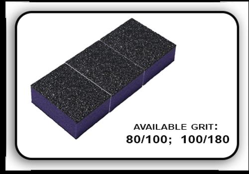 Mini Buffer 2 Way - Purple/Black - 100/180 Grit (Pack/30 pcs)