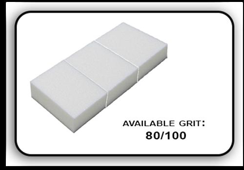 Mini Buffer 2 Way - White/White - 80/100 Grit (Pack/30 pcs)