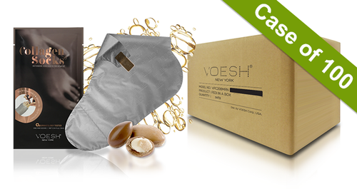 Voesh Case/100 pairs - Collagen Socks with Argan Oil + Aloe Extract (VFM212COL)