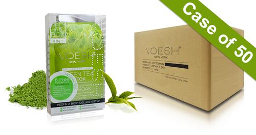 20% Off Voesh Case/50pks - Pedi in a Box - 4 Step Deluxe - Green Tea (VPC208GRT)