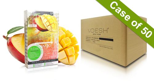 20% Off Voesh Case/50pks - Pedi in a Box - 4 Step Deluxe - Mango Delight (VPC208MNG)