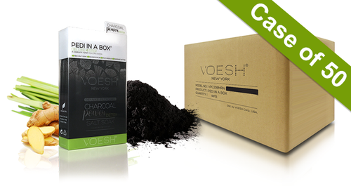 20% Off Voesh Case/50pks - Pedi in a Box - 4 Step Deluxe - Charcoal Detox (VPC208CHL)