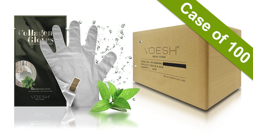 20% Off Voesh Case/100 pairs - Collagen Gloves with Herb Extract (VHM212PEP)
