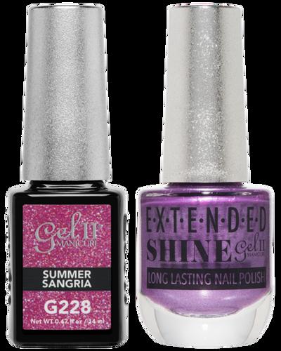 Gel II + Matching Extended Shine Polish - G228 & ES228 - SUMMER SANGRIA