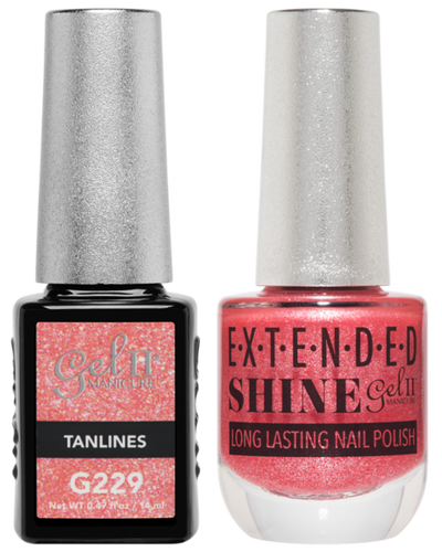 Gel II + Matching Extended Shine Polish - G229 & ES229 - TANLINES