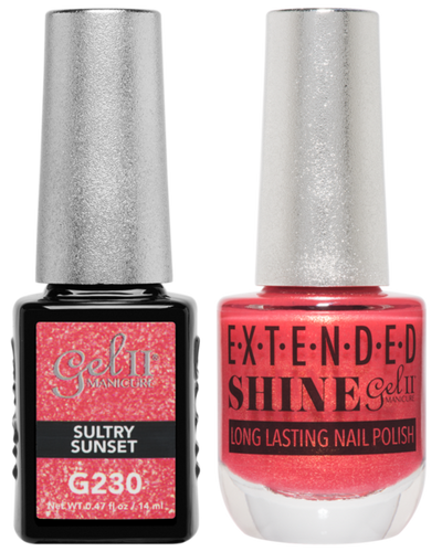 Gel II + Matching Extended Shine Polish - G230 & ES230 - SULTRY SUNSET