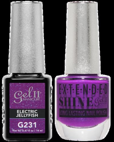 Gel II + Matching Extended Shine Polish - G231 & ES231 - ELECTRIC JELLYFISH