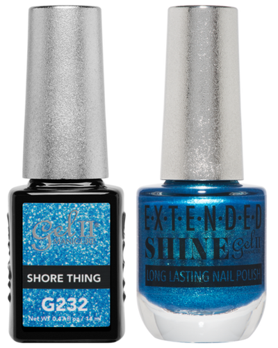 Gel II + Matching Extended Shine Polish - G232 & ES232 - SHORE THING
