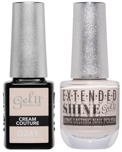 Gel II + Matching Extended Shine Polish - G241 & ES241 - CREAM COUTURE