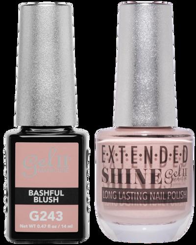 Gel II + Matching Extended Shine Polish - G243 & ES243 - BASHFUL BLUSH