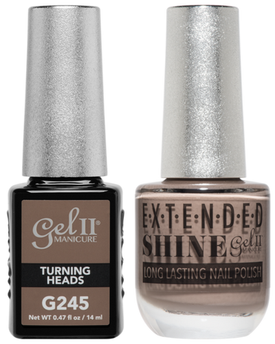 Gel II + Matching Extended Shine Polish - G245 & ES245 - TURNING HEADS