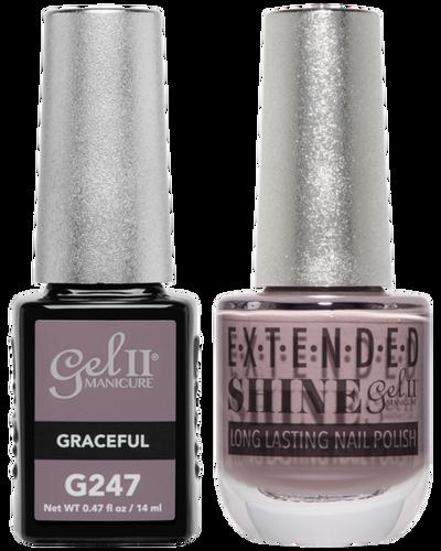 Gel II + Matching Extended Shine Polish - G247 & ES247 - GRACEFUL