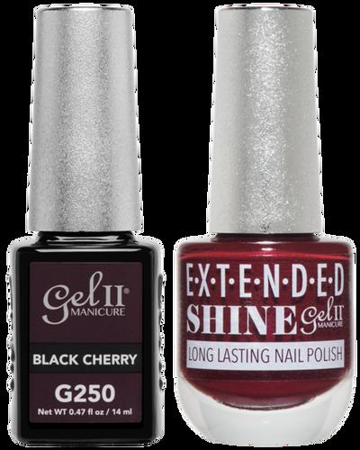 Gel II + Matching Extended Shine Polish - G250 & ES250 - BLACK CHERRY