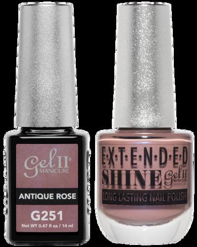 Gel II + Matching Extended Shine Polish - G251 & ES251 - ANTIQUE ROSE