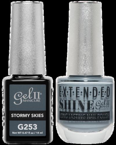 Gel II + Matching Extended Shine Polish - G253 & ES253 - STORMY SKIES