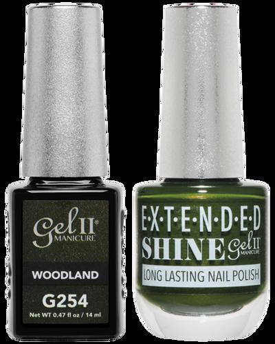 Gel II + Matching Extended Shine Polish - G254 & ES254 - WOODLAND