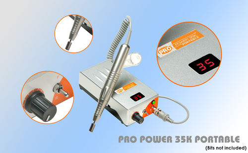ProPower 35K Electric Nail File Rechargeable Drill - Princess Nail ...