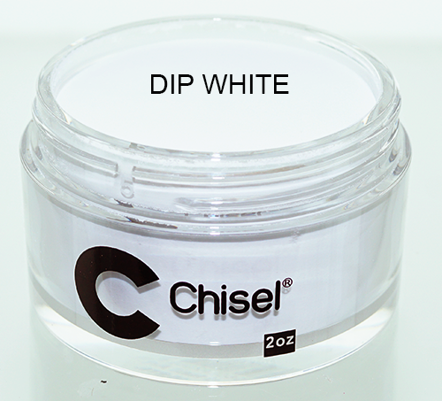 Chisel 2in1 Acrylic & Dipping 2 oz - Pink & White - DIP WHITE