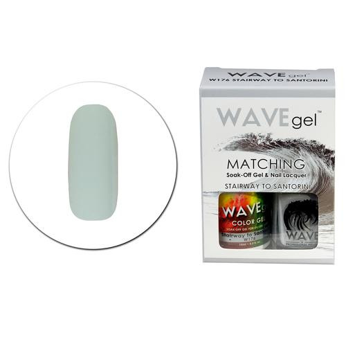 WaveGel Matching S/O Gel & Nail Lacquer - W176 STAIRWAY TO SANTORINI .5 oz
